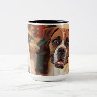 Cute Boxer Two-Tone Coffee Mug