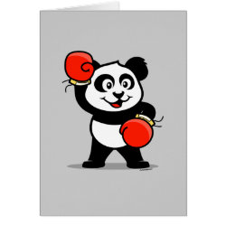 Greeting Card with Cute Boxing Panda design