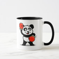 Combo Mug with Cute Boxing Panda design