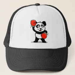 Trucker Hat with Cute Boxing Panda design