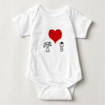 Cute boy and girl in love doodle baby shirt