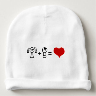 Cute boy and girl love doodle baby beanie