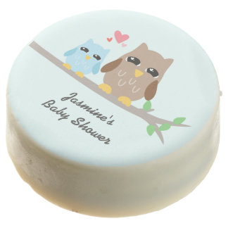 Cute Boy Baby Shower Owl Chocolate Dipped Oreo
