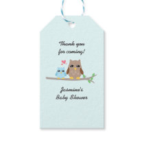 Cute Boy Baby Shower Owl Gift Tags
