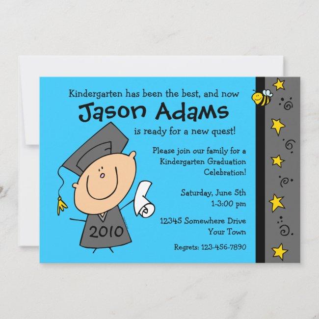 Cute Boy Custom Graduation Invitations
