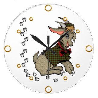 Cute Boy Goat Cartoon  Wall Clock