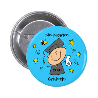Cute Boy Grad Custom Pinback Button