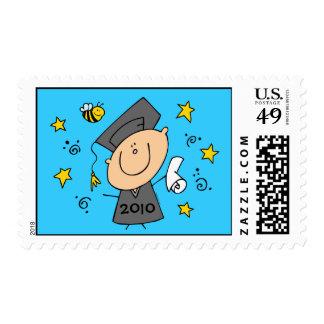 Cute Boy Grad Custom Stamp