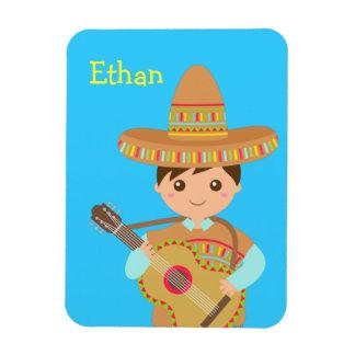 Cute boy Mexican Sombrero Hat Guitar Fiesta Magnet