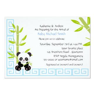 Cute Boy Panda Baby Shower Card
