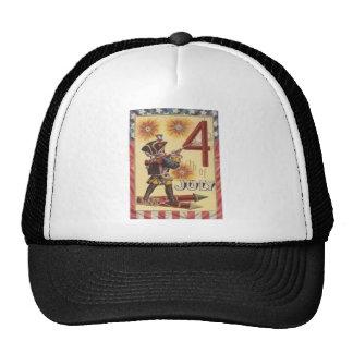 Cute Boy Revolutionary War Soldier Fireworks Trucker Hat