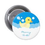 Cute Boy Rubber Ducky Baby Shower 2 Inch Round Button