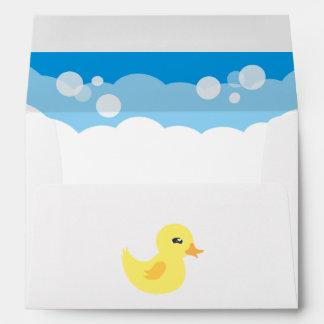 Cute Boy Rubber Ducky Baby Shower Envelope