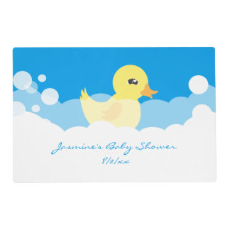 Cute Boy Rubber Ducky Baby Shower Placemat