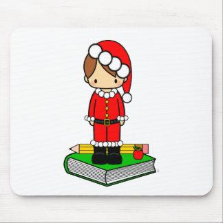 Cute boy teacher/student dressed in Santa suit Mouse Pad