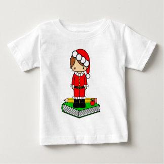 Cute boy teacher/student dressed in Santa suit Shirt