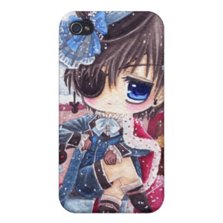 Cute boy with eye patch iPhone 4/4S case