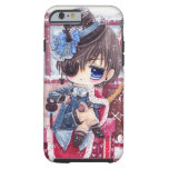 Cute boy with eye patch tough iPhone 6 case