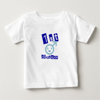 "Cute, Boys ""1st Birthday"" design Baby T-Shirt"