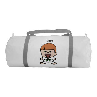 Cute Boy's Karate Duffel Bag