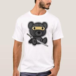 Cute brave samurai warrior teddy bear (dark shirt) T-Shirt