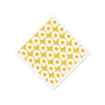 Cute Breakfast egg pattern gathering paper napkins