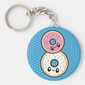 Cute Breakfast Food donut keychain
