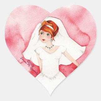 Cute Bridal Shower Bride Wedding Engagement Heart Sticker