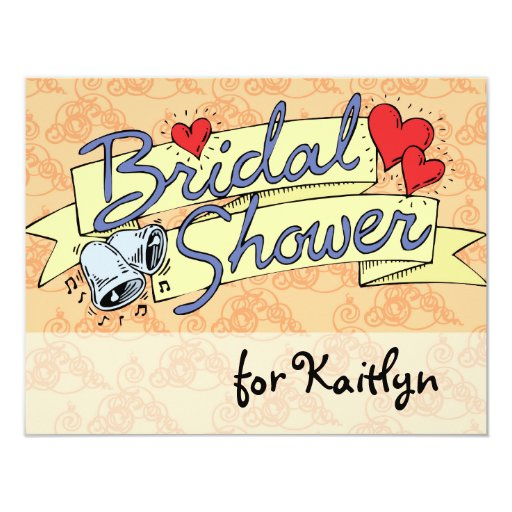 Cute Bridal Shower Melon 4.25x5.5 Paper Invitation Card
