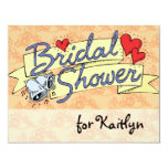 "Cute Bridal Shower Melon 4.25"" X 5.5"" Invitation Card"