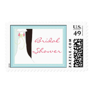 Cute Bridal Shower postage stamps