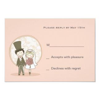 Cute Bride and Groom Response Card