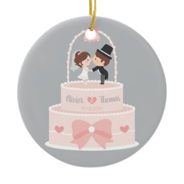 Bride Themed Cute Bride and Groom Topper Wedding Cake Ornament