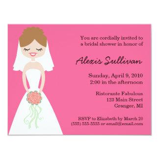 Cute Bride Bridal Shower Invitations