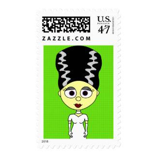 Cute Bride of Frankenstein Postage