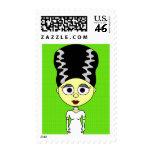 Cute Bride of Frankenstein Postage Stamps