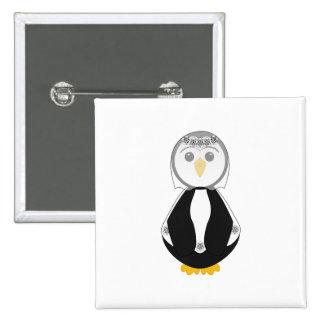 Cute Bride Penguin Buttons