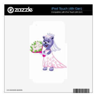 Cute Bride Teddy Bear iPod Touch 4G Decal