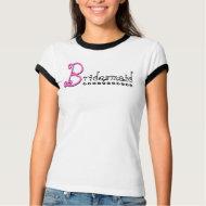 Cute BRIDESMAID T Shirt - Black White Pink shirt
