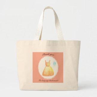 Cute Bridesmaid Thank You Gift Tote Bag