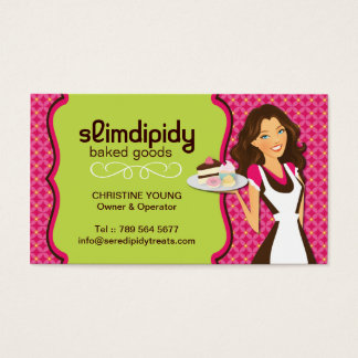 Cute, Bright and Whimsical Bakery Business Card