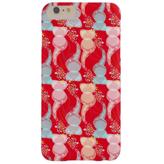 Cute bright baby elephants design on red barely there iPhone 6 plus case