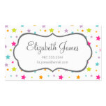 Cute Bright Colorful Stars Double-Sided Standard Business Cards (Pack Of 100)