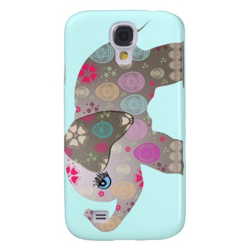 Cute bright elephant samsung galaxy s4 cases