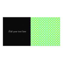 Cute Bright Floral Pattern White Teal Chartreuse Card