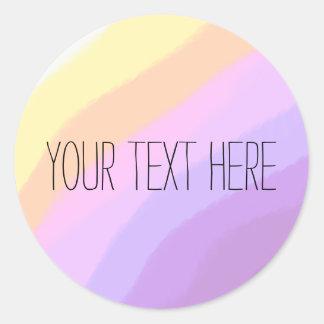 cute bright neon brushstrokes unicorn colors classic round sticker