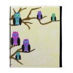 Cute Bright Owls iPad Folio Covers