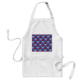Cute Bright Pink and Purple Peacock feathers Adult Apron