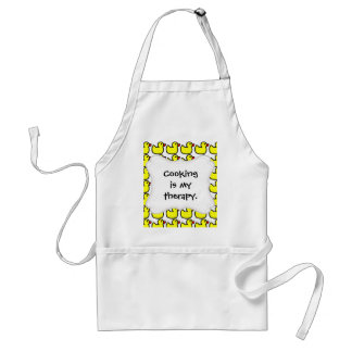 Cute Bright Yellow Rubber Ducky Pattern Adult Apron