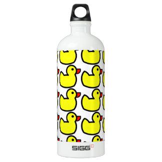 Cute Bright Yellow Rubber Ducky Pattern Aluminum Water Bottle
